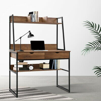 AU121.90 • Buy Artiss Office Computer Desk Study Table Workstation Bookshelf Storage Drawers