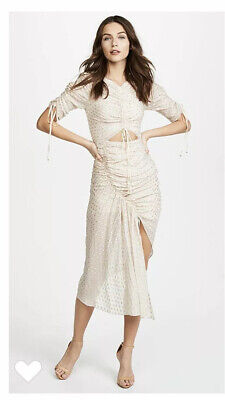 AU149 • Buy ** NEW ** Alice McCall Feel It Coming Dress Sz 10 Fit 8 - 10 RRP $490 Cream Gold