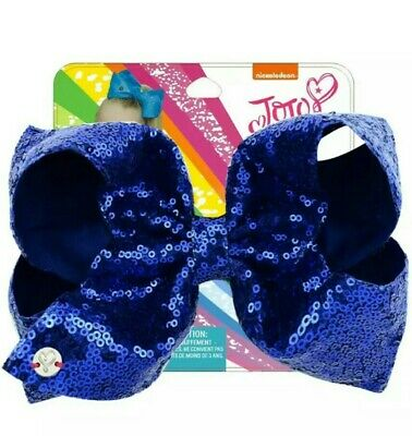 AU11.95 • Buy NEW! Jojo Siwa Bow Large 8  Sequin Bow, Royal Blue Sequins✨