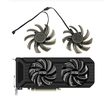 $ CDN9.10 • Buy Fan For Palit GeForce GTX1060 GTX1080 GTX1070Ti 8G Dual GA91S2U GA91S2H Set Fans
