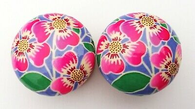 EXTRA LARGE 55mm Hand-Decoupaged Beech Drawer Door Knobs Floral £4.50 PER KNOB • 4.50£