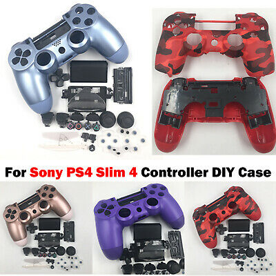 AU17.88 • Buy For Sony PS4 Slim 4 Controller DIY Housing Shell Case Buttons Full Set Mod Kit