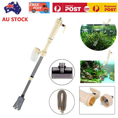 AU28.59 • Buy Electric Aquarium Fish Tank Cleaner Siphon Pump Water Change Gravel Vacuum Clean
