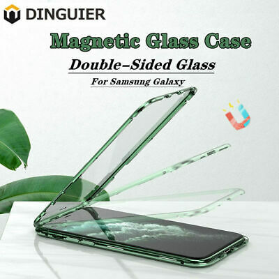 AU21.36 • Buy 360° Magnetic Double Sided For Samsung Note 10 8 Plus S10 S9 S8 Glass Case Cover