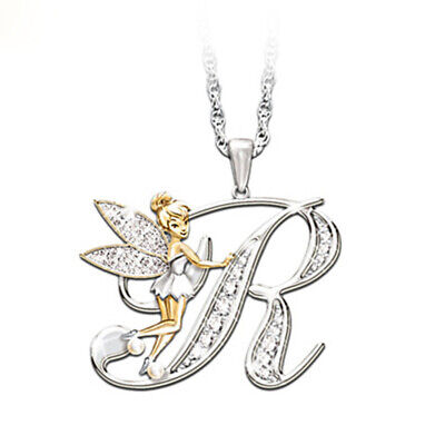 Stunning Tinkerbell Fairy Alphabet Letter  R   Pendant Necklace With Organza Bag • 2.99£