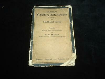 Yorkshire Dialect & Traditional Poems 1673-1915 Moorman Rare Poetry Anthology • 9.99£