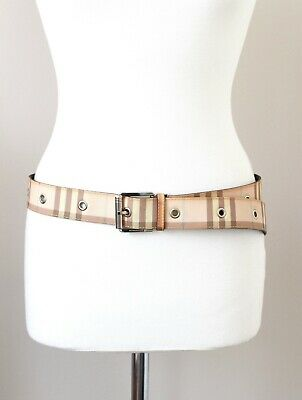 BURBERRY Mens Leather Coated Canvas Belt Nova Check 40  /100cm • 172£