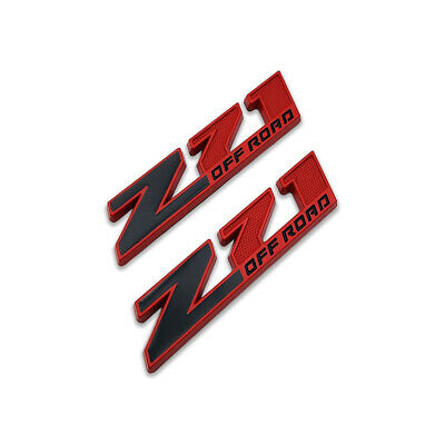 AU11.62 • Buy 2x Red&Black Z71 Off-Road Emblem 4X4 Badge 3D Metal Sticker Decal For Chevy GMC