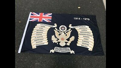 Ballymaconnelly Loyalist Flute Band Flag 36th Ulster Division  • 14£