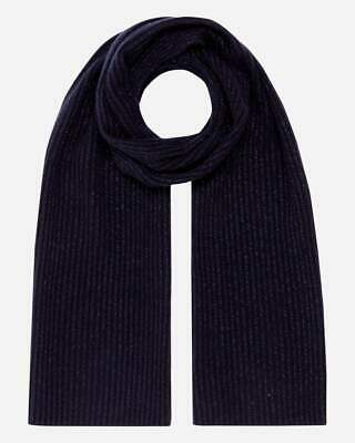 N.Peal Navy Cashmere Knit Shawl Scarf  • 80£