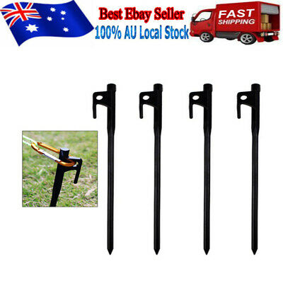 AU21.89 • Buy 10X Sand Pegs Tent Pegs Steel Tent Nail Tent Stake Nails Ground Pin Camping&Rope