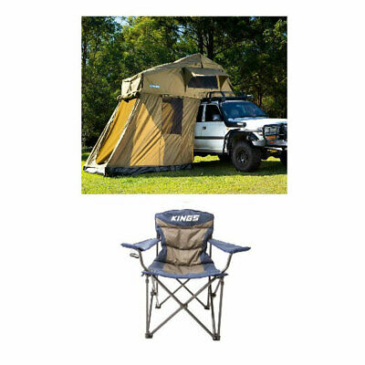 AU1052 • Buy Kings Roof Top Tent With 4 Man Annex + Kings Throne Camp Chair