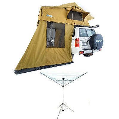 AU1029.46 • Buy Kings Roof Top Tent With 4 Man Annex + Clothesline