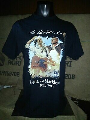 The Adventures Of Kesha And Macklemore 2018 Black T-Shirt Tee Top Sizes M L New • 14.95£
