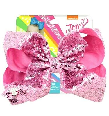 AU13.95 • Buy NEW! Jojo Siwa Bow Large 8  Sequin Bow, Princess Pink Sequins✨