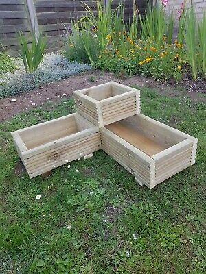 Corner Decking Garden Planter Handmade/ Patio/ Herbs/ Bedding Plants • 38£