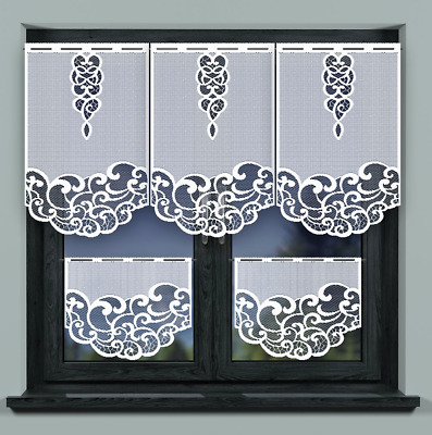 £3.50 • Buy Kitchen Curtains Cafe Net Curtain Lace White Window Decor Sold By Panel