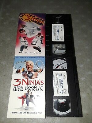 $ CDN17.28 • Buy 3 Ninjas Knuckle Up + High Noon At Mega Mountain Hulk Hogan VHS Lot CLEAN NM-