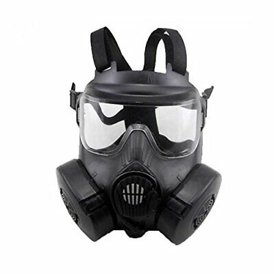 $ CDN48.99 • Buy Tactical Airsoft Paintball Full Face Dual Fan Gas Mask