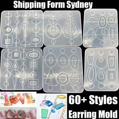 AU5.99 • Buy Silicone Earring Pendant Mold Necklace Jewelry Resin Mould Casting Craft Tool AU