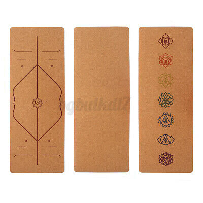 AU43.99 • Buy Natural Natural Cork TPE Yoga Mat Eco Friendly Exercise Fitness Gym Pilates AU