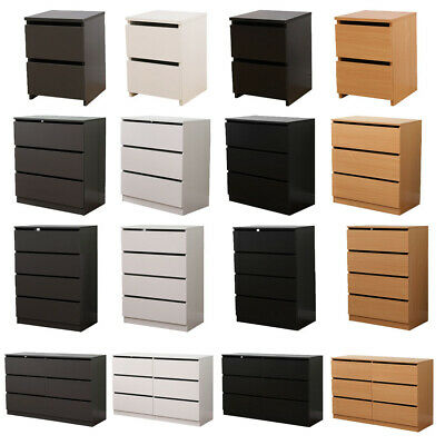 AVC Designs 2,3,4,6 Drawer Chest Of Drawers Bedside Table Modern Bedroom Storage • 49.95£
