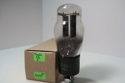 $ CDN37.39 • Buy 5Y3G Tung-Sol Black Plate Tested Rectifier Amp Audio Radio Valve Vacuum Tube