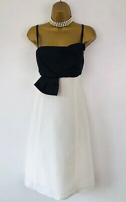 $ CDN17.95 • Buy ARIELLA  Occasion Dress Size 16 Black Ivory Silk A Line Strappy Evening Party