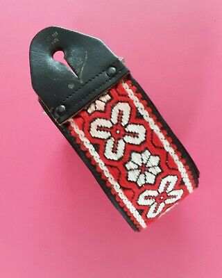 $ CDN157.82 • Buy Vintage Genuine Ace Guitar Strap Iconic Red Greenwich Rare VG