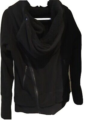 $ CDN250 • Buy Lululemon Off The Mat Black Fleece Jacket Size 10