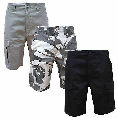 Mens Wrangler Cargo Combat Stretch Relaxed Fit Camo Shorts Cotton Work 30-48  • 8.99£