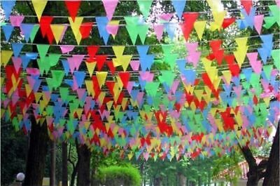 £1.89 • Buy 33Feet 20Flags MultiColour Banner Bunting Party Home Garden Decoration Outdoor