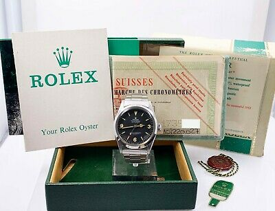 $ CDN56484.44 • Buy VINTAGE Rolex Explorer 1016 Black Dial Stainless Steel Box Papers 1969 Complete