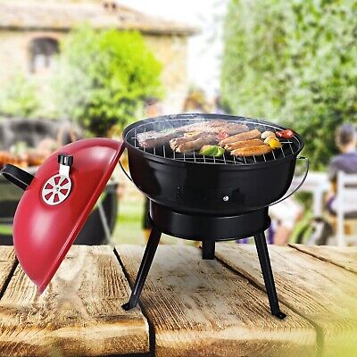 $ CDN69.99 • Buy New Outdoor Portable Charcoal BBQ Grill Red Top Black Base