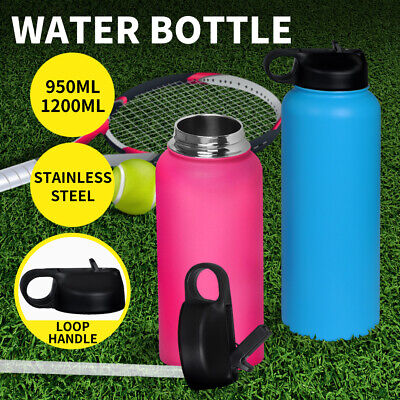 AU22.99 • Buy Stainless Steel Water Bottle Vacuum Insulated Thermos Double Wall With Straw