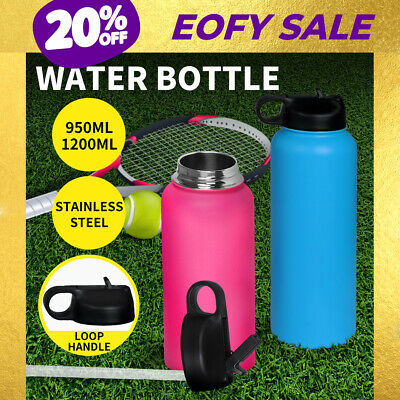AU24.99 • Buy Stainless Steel Water Bottle Vacuum Insulated Thermos Double Wall With Straw