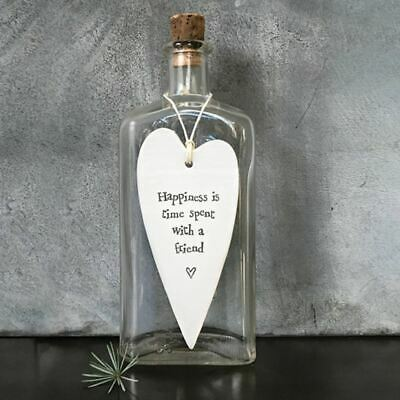 East Of India Wobbly Long Heart Happiness Is… Friend Porcelain Gift • 5.95£