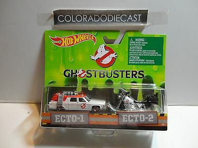 Hot Wheels Ghostbusters Ecto-1 & Ecto 2 Set W/Real Riders • 6.87£