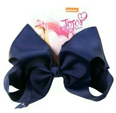 AU13.95 • Buy 💙Jojo Siwa Hair Bow 8  NAVY BLUE School Colour, Jo Jo