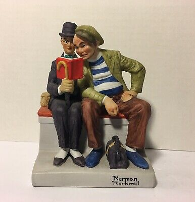 $ CDN23.61 • Buy The 12 Norman Rockwell Porcelain Figurines  The Interloper  1980 Danbury Mint