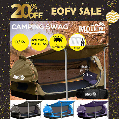 AU299.99 • Buy Mountview Double King Single Swag Camping Swags Canvas Dome Tent Free Standing