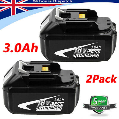 2PACK 18V 3AH LXT Li-Ion Battery For Makita BL1840 BL1830 BL1850 Cordless Drills • 37.99£