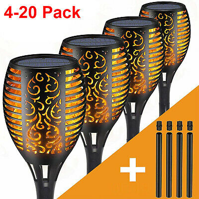 20 Pack LED Solar Garden Flame Light Flickering Torch Lamp Outdoor Waterproof UK • 13.99£