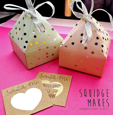 £4.40 • Buy Create Your Own Card Personalised Scratch Card Custom Gift Message Reveal Card