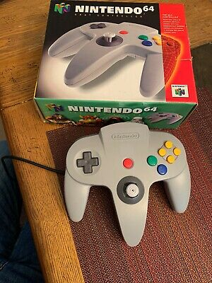 $ CDN73.14 • Buy Official Nintendo 64 N64 Controller Gray Complete In Box Works