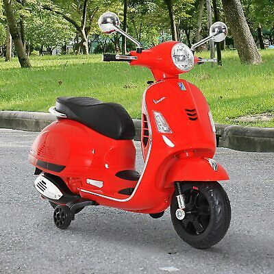Kids Red Vespa Scooter Electric Ride-On Children Toy Gift Battery Powered Bike • 129.99£