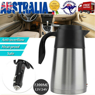 AU42.98 • Buy 1.3L 12V Portable In-Car Electric Kettle Stainless Steel Camping Insulation Cup
