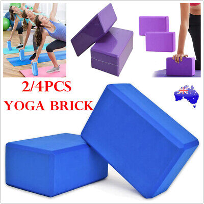 AU12.98 • Buy 2/4Pcs Gym Sport Foaming Yoga Block Fitness Practice Brick Home Exercise Tool AU