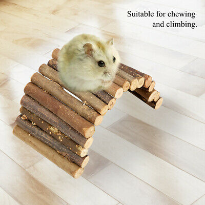Hamster Bendy Wooden Ladder House For Reptile Mice Rodents Small Animal • 3.98£