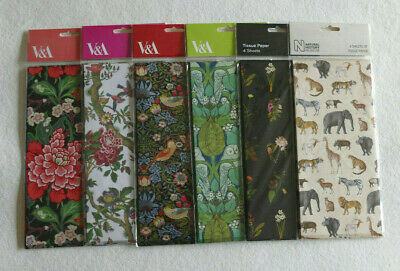 £4.99 • Buy Pack 4 Large Sheets Tissue Paper Gift Wrapping Decoupage By Museums & Galleries